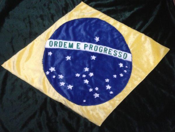 Brazil Flag Applique Blanket