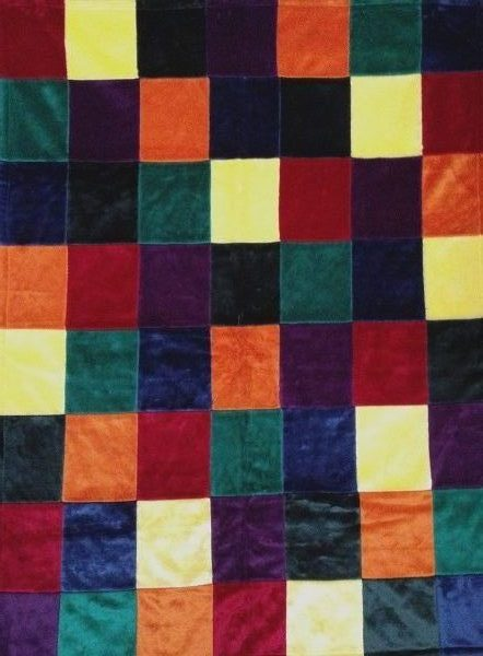 primary patchwork blanket